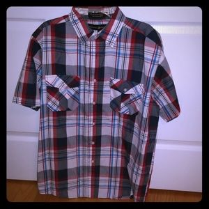 Beverly Hills Polo Club Plaid short sleeved Shirt